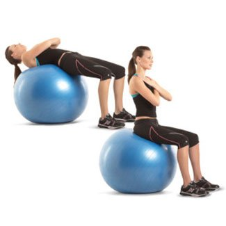 crunch with stability ball