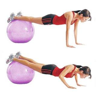 stability ball pushups